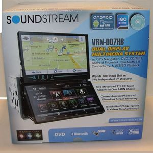 Sound stream 7inch dual screen navigation android mirror link one of a kind stereo brand new for Sale in Covina, CA
