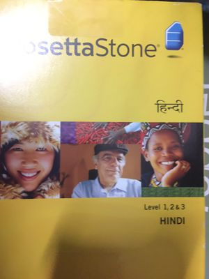 Rosetta Stone Hindi level 1,2 and 3 - software to learn Hindi Language for Sale in Irvine, CA