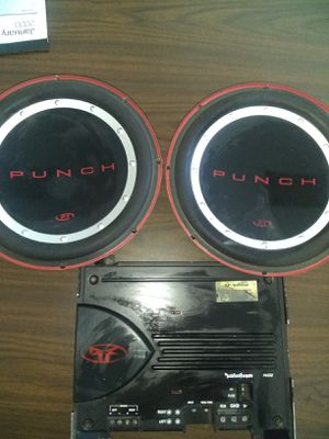 Punch fosgate Amp/ punch wolfers 10's, for Sale in West Covina, CA
