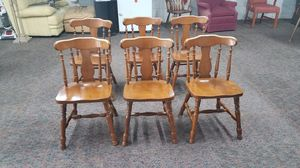 Set of 6 maple dining chairs, $100 for all! for Sale in Beech Grove, IN