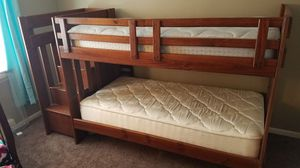 Twin bunk beds with stairs for Sale in Forest Park, IL