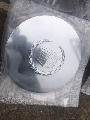 "4 Cadillac Escalade chrome center caps fit 17"" chrome wheel for Sale in East Northport, NY"