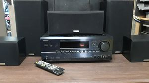 Onkyo HDMI Surround Sound AV Receiver (TX-SR604) with Kenwood Speakers and Remote for Sale in Glendale, AZ