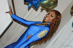 Royal blue /gold prom dress for Sale in Oxon Hill, MD