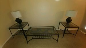 Coffee, and end tables with lamps for Sale in Phoenix, AZ