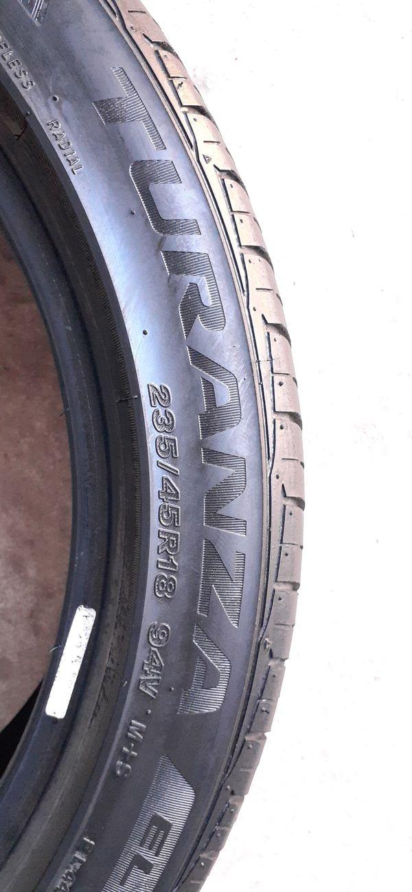 4 tires 235 45 18 Bridgestone