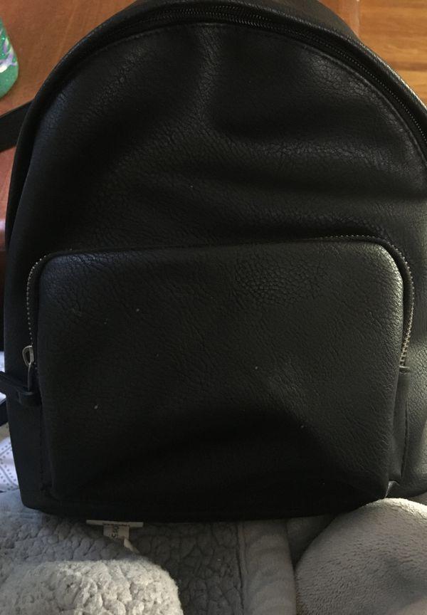 A mini black backpack