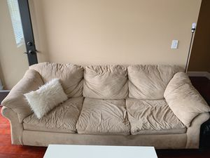Beige Couch / Sofa (Seattle Greenlake area) for Sale in Seattle, WA