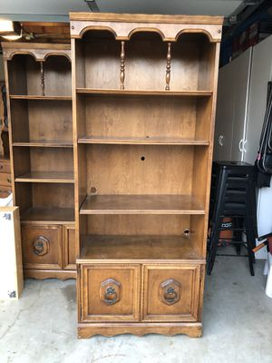 2 Maple bookcases for Sale in Los Alamitos, CA