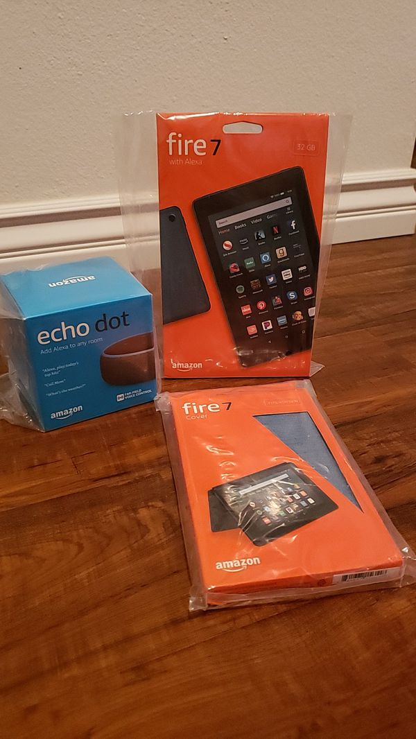 Fire 7 Tablet Combo with Echo Dot