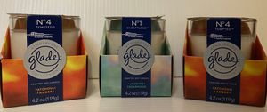 3 NEW GLADE atmosphere collection candles! for Sale in Green Bay, WI