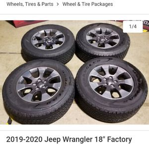 2019 Jeep Wrangler wheels for Sale in Macomb, MI