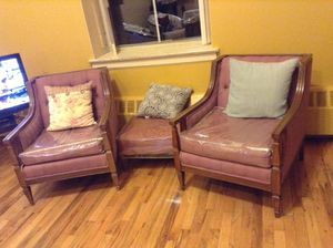 Antique chairs and ottoman for Sale in Brooklyn, NY