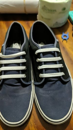 Vans men's shoes black and blue for Sale in Gainesville, FL
