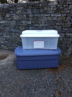 Two Large storage tote container for Sale in Concord, MA