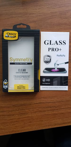 Otterbox Symmetry case for Iphone Xs/X/7/8/7+/8+ (+ a free tempered glass) for Sale in Montclair, CA