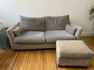 Beige Love Seat Couch with Ottoman for Sale in San Francisco, CA