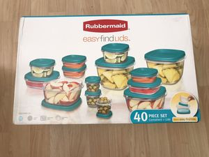 NEW Rubbermaid Easy Find Lids Assorted Storage Container Set 40 Pieces for Sale in Palos Verdes Estates, CA