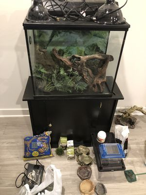 Tank and Cabinet with Accessories for Sale in Rockville, MD