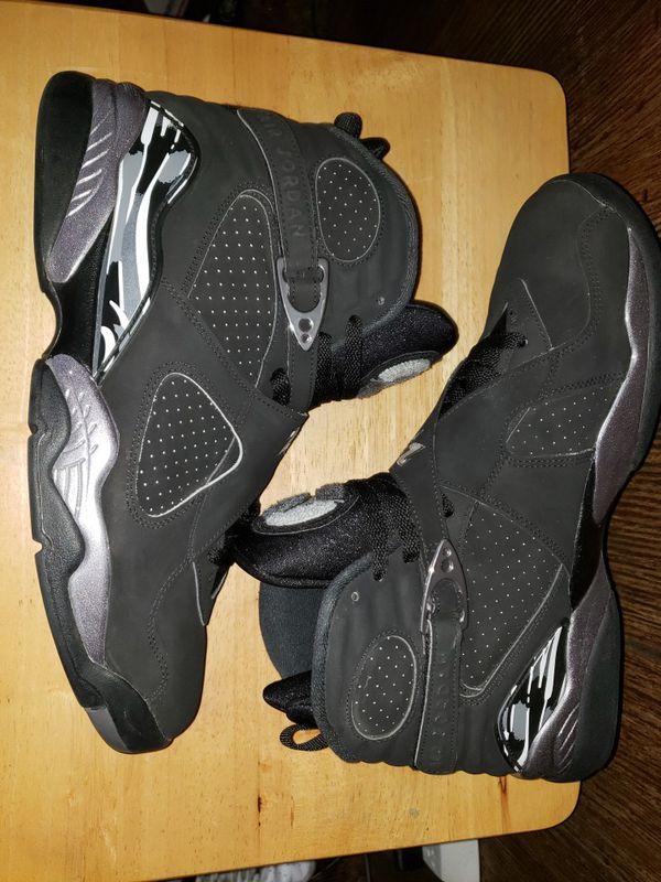 Jordan Retro VIII 8 Black/Chrome **size 11.5**