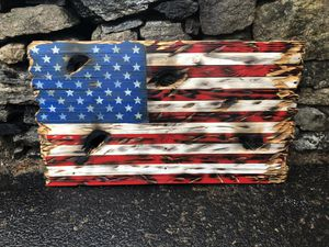 War torn pallet wood flag for Sale in Watertown, CT
