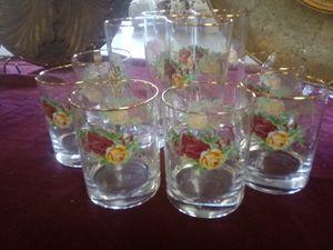 Rose vintage glasses ...$10 for Sale in Norfolk, VA