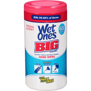 Wet Ones Big Ones Extra Thick Antibacterial Hand Wipes Kills 99.99% of Germs for Sale in Cerritos, CA