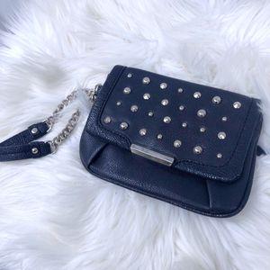 Jennifer Lopez Black Handbag/ Wallet: silver studs, brand new, purse, women's fashion for Sale in San Diego, CA