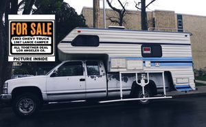 1993 chevy truck and camper for Sale in Los Angeles, CA