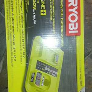 Ryobi one Plus 18v And 40v Lithium Dual Platform battery Charger for Sale in Bonney Lake, WA