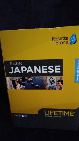 Rosetta Stone Japanese complete courses for Sale in Spokane, WA