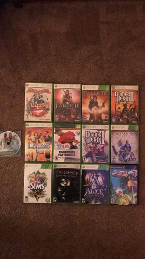 Xbox 360 and ps2 games for Sale in VERNON ROCKVL, CT