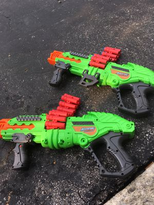 2 PowerBolt Adventure Force Nerf Guns. One is Missing Darts for Sale in Groveport, OH