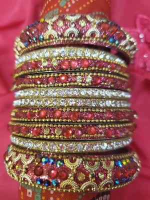 Bollywood style bangles set/bracelets for Sale in Dunlap, IL