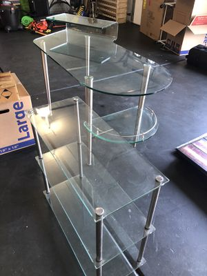 Glass desk and small shelf for Sale in Mesa, AZ