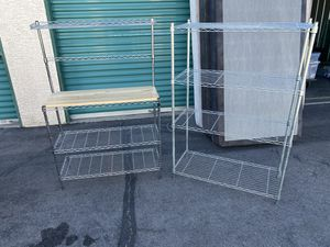 2 metal shelves for Sale in Paradise, NV