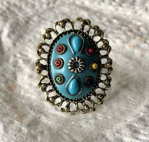 Blue Fashion Adjustable Clay Ring for Sale in Parkville, MD
