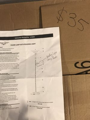 Floor lamp with reading light for Sale in Fort Worth, TX