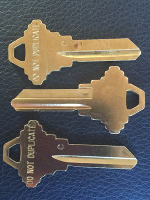 """NEW Lot of 3 Uncut DND SC1 Brass """"Do Not Duplicate"""" Key Blanks """"C"""" for Sale in Victorville, CA"""
