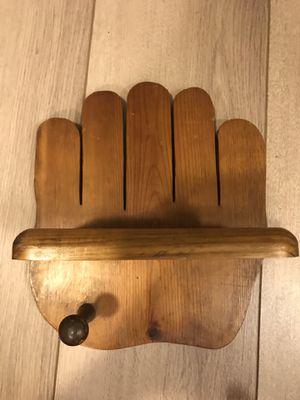 Wood handmade baseball bat, glove, and ball holder for Sale in Fresno, CA