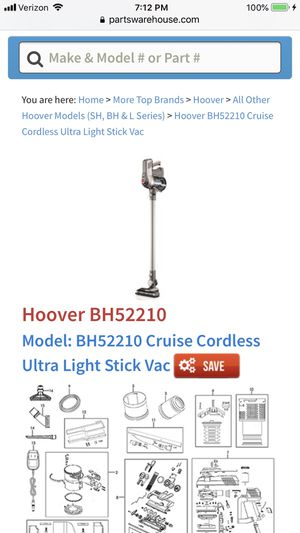 Hoover cordless vacuum model bh52210 for Sale in Englewood, CO