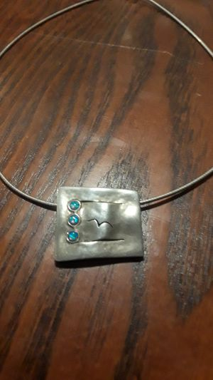 Gorgeous Sterling Silver 925 pendant with necklace. for Sale in New York, NY