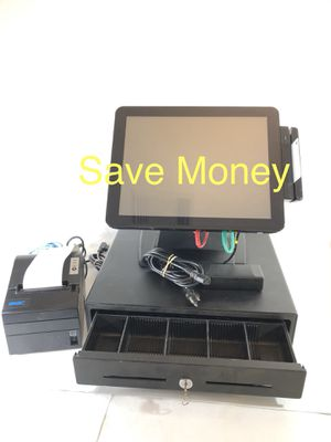 """Sam4s SPT4845 POS Pos Touchscreen Terminal With Printer & Register """"Read Inside"""" for Sale in San Antonio, TX"""