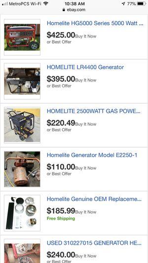 2500 watt homelite generator for Sale in Portland, OR