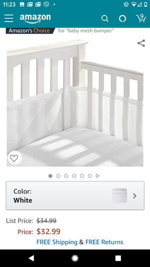Breathable Baby crib bumper liner for Sale in Citrus Heights, CA