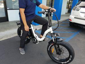 New Amazon Vtuvia Easy Step Thru Folding Electric Bike Powerful E-bike utility ebike mini fat tire bicycle 500w watts 48v volts rad for Sale in Downey, CA