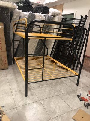 Twin over full metal bunk bed brand new NO MATTRESSES for Sale in Las Vegas, NV