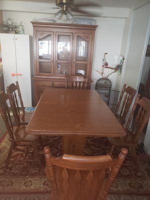 DINNER TABLE WITH 6 CHAIRS AND CHINA GABINETTE for Sale in San Diego, CA