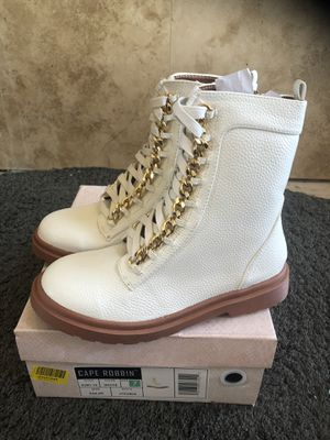 Cape Robin Dr Marten Style White Boots for Sale in San Diego, CA