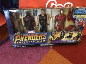 Avengers Infinity War Titan Hero Series Groot Thor Ironman and Captain America Condition: brand new for Sale in San Diego, CA